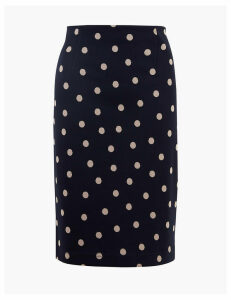 M&S Collection Polka Dot Jersey Pencil Skirt