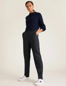 M&S Collection Buckled Straight Leg Trousers