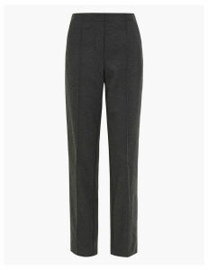 M&S Collection Ponte Straight Leg Ankle Grazer Trousers