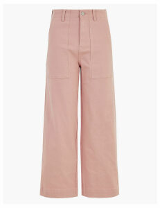 M&S Collection Utilty Wide Leg Ankle Grazer Jeans