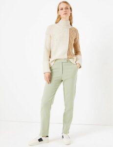 M&S Collection Mia Slim Marl Ankle Grazer Trousers