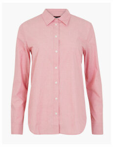 M&S Collection Cotton Rich Polka Dot Print Shirt