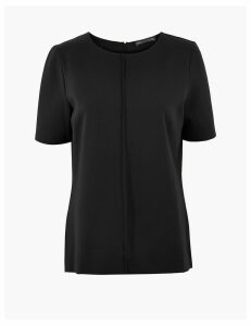 M&S Collection Ponte Short Sleeve Top