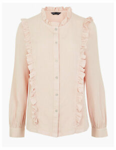 M&S Collection Tencel  Ruffle Detail Blouse