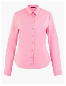 M&S Collection Cotton Rich Fitted Shirt