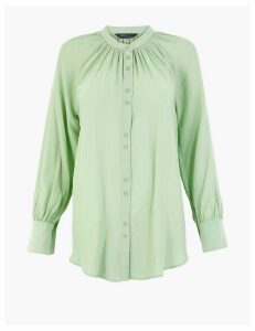 M&S Collection Smock Neck Longline Blouse