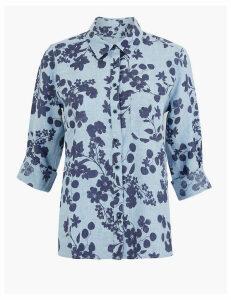 M&S Collection Linen Floral Print Shirt