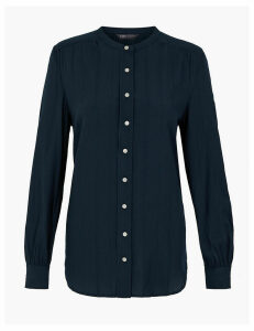 M&S Collection Collarless Longline Shirt