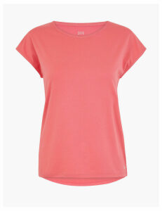 GOODMOVE Feature Back Short Sleeve Top
