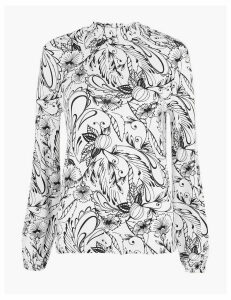 M&S Collection Floral Print Long Sleeve Top