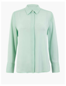 M&S Collection PETITE Button Detailed Shirt