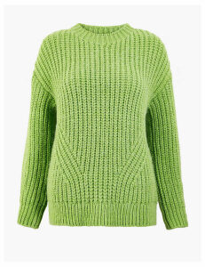 M&S Collection Textured Round Neck Jumper