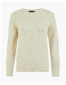 M&S Collection Mini Cable Knit Round Neck Jumper