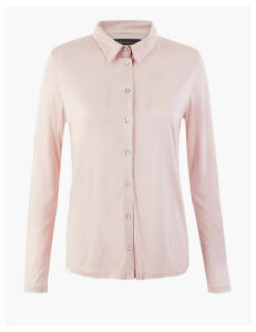 M&S Collection Jersey Regular Fit Shirt