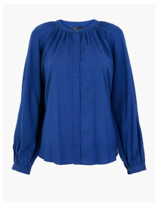 M&S Collection Button Detailed Relaxed Fit Blouse