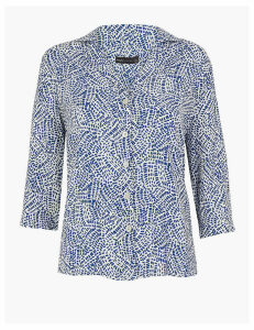 M&S Collection Printed Collared Neck Shirt