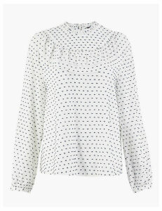 M&S Collection Printed Ruffle Detailed Blouse