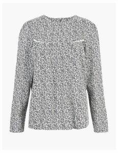 M&S Collection Pure Cotton Floral Print Blouse