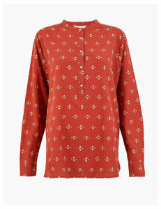 Per Una Pure Cotton Embroidered Blouse