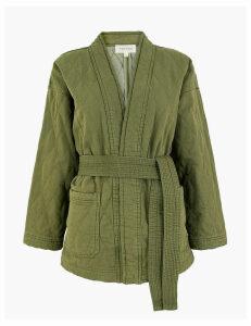Per Una Denim Quilted Kimono Jacket