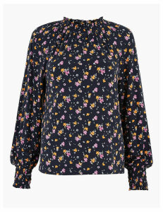 M&S Collection Floral Long Sleeve Top