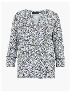 M&S Collection Pure Cotton Floral Blouse
