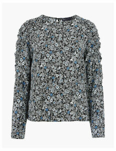 M&S Collection Floral Waisted Blouse