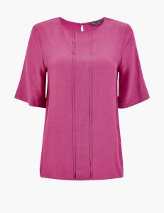 M&S Collection Pleat Front Woven Blouse