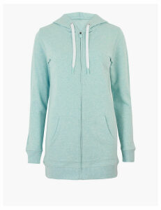 GOODMOVE Pure Cotton Longline Hoodie