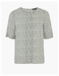 M&S Collection PETITE Pleat Front Woven Blouse