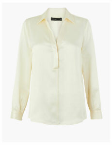 Autograph Pure Silk Long Sleeve Blouse