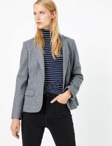 M&S Collection Flannel Jersey Blazer