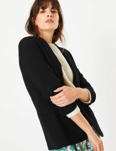 M&S Collection Open Front Ruched Sleeve Blazer