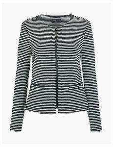 M&S Collection Jersey Striped Jacket