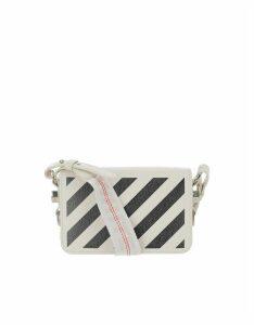 Off-White Designer Handbags, White Mini Diag Shoulder Bag