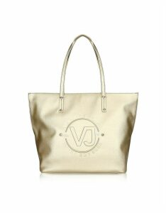 Versace Jeans Designer Handbags, 5 Dis. 50 Gold Polyester Tote Bag
