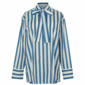 MSGM Stripe Tie Shirt