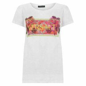 Versace Print Logo T Shirt