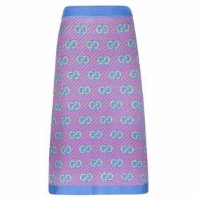 Gucci Gg Knitted Midi Skirt