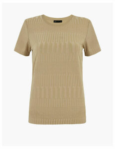 M&S Collection Textured Slim Fit T-Shirt