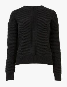 M&S Collection Cotton Ribbed Crew Neck Jumper