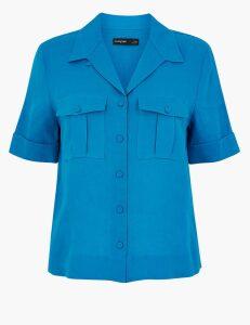 Autograph Pure Irish Linen Short Sleeve Shirt