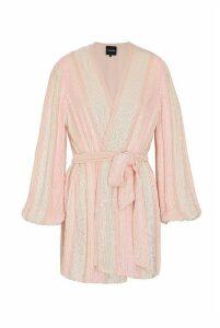 retrofete Gabrielle Robe Dress Pastel Pink Stripes - L Pink