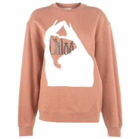 Chloe Logo Long Sleeve Sweatshirt