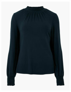 M&S Collection Straight Fit Long Sleeve Top