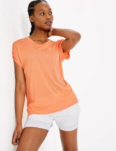 GOODMOVE Round Neck Short Sleeve Top