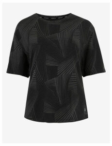 GOODMOVE Textured Short Sleeve Top