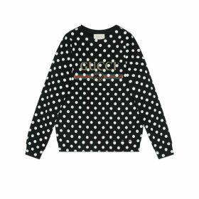 Gucci logo polka dot print sweatshirt