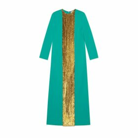 Viscose jersey dress with sequins