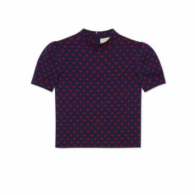 Polka dot and Double G wool top